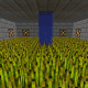 On our latest server, I have a small room with redstone lamps for each type of crops.