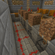 This automated melon farm uses sticky pistons to uproot ripe melons.