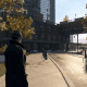 In game it's also depicted as a courtyard like area, between old buildings, albeit as a n alley instead of a parking lot.