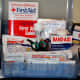 An inside look of the supplies in my first aid kit.