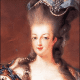 Marie Antoinette showing off her poufy style.