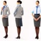 The new ANA flight attendant's uniform that was introduced on April 24th, 2014