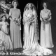 Vintage wedding dress - 1950s photograph of a bride and her attendants.