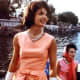 Jacqueline Kennedy in her favorite triple strand pearl necklace