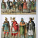 """Anglo Saxons circa 500–1000 AD. From the 1882 book """"Costumes of All Nations."""""""