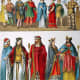 """Franks circa 400–600 AD. From the 1882 book """"Costumes of All Nations."""""""