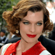 Milla Jovovich and a modern take on the curly 20's 'do.