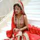 Beautiful red bridal sharara.