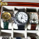 Very large watches will intrude into neighboring compartments.