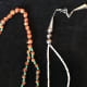 Native American Necklaces transition from two strands into one.