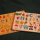 One of my favorite alphabet puzzle, by Melissa and Doug, with pieces separated by row