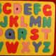 Uppercase alphabet foam puzzle from Dollar Tree