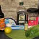 Ingredients for delicious Caesar salad dressing
