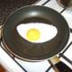 Frying the duck egg