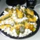 Here it is the Grand Finally. What we have been patiently waiting for Jalapeno Popper popcorn topped with cheddar cheese sauce.