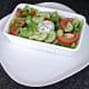 Simple salad and garlic mayo