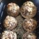 Baked, stuffed mushrooms.