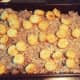 Steps 9 and 10: Sprinkle a few frozen tater tots on top. Place in oven and bake for 25 minutes.