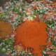 Step six: Add curry powder or rasam powder, red chili powder, garam masala powder, and salt.