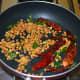 Saute until lentils become golden brown