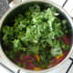 kale is added to pasta sauce