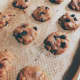 Use an ice-cream scoop or a spoon to drop the cookies onto the pan. Bake for 12 minutes.