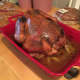 My first Thanksgiving turkey. I went a little overboard on the butter; I think I used three sticks. I have since learned that two is plenty sufficient. The drippings did make for some fantastic gravy, though.