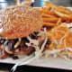 Bulgogi burger with fries