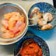 The tom yum paste, chicken, and shrimp.