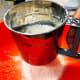 Sieve the cornflour, all-purpose flour, rice flour, and baking powder in a bowl.