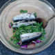 Sardines are added to watercress salad