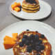 Top waffle French toast with fresh fruits of your choice.
