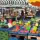 An array or organic fruits and veggies