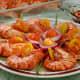 Shrimps and garnishes