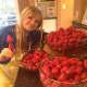 Hulling strawberries is a big job!