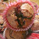 A muffin bursting with mincemeat!