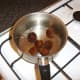 Chestnuts are boiled in salted water