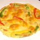 Duck egg frittata is plated