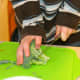 Cut the broccoli into small florets using a butter knife (kids can do this step)!