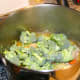 Add the broccoli, cooking for approximately 10 additional minutes.