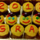 """We also left a few cupcakes plain to spell out """"2012 GRAD"""" for those little ones who may not like candy toppings on their cupcakes."""