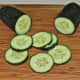 Thinly sliced cucumber (you may peel or not, as you prefer).