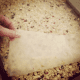 Place in a cookie pan and put waxed paper on top.