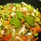 Add dollops of the pesto and stir.