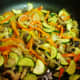 Cook and stir until the veggies are softened.