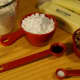 Ingredients for polvorones or Mexican wedding cakes.