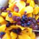 Mix in the garden fresh fruits
