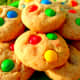 Another look at our finished M&M cookies.