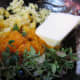 Butter, ginger, orange zest and fresh thyme leaves.