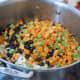 3. chopped carrots & green beans